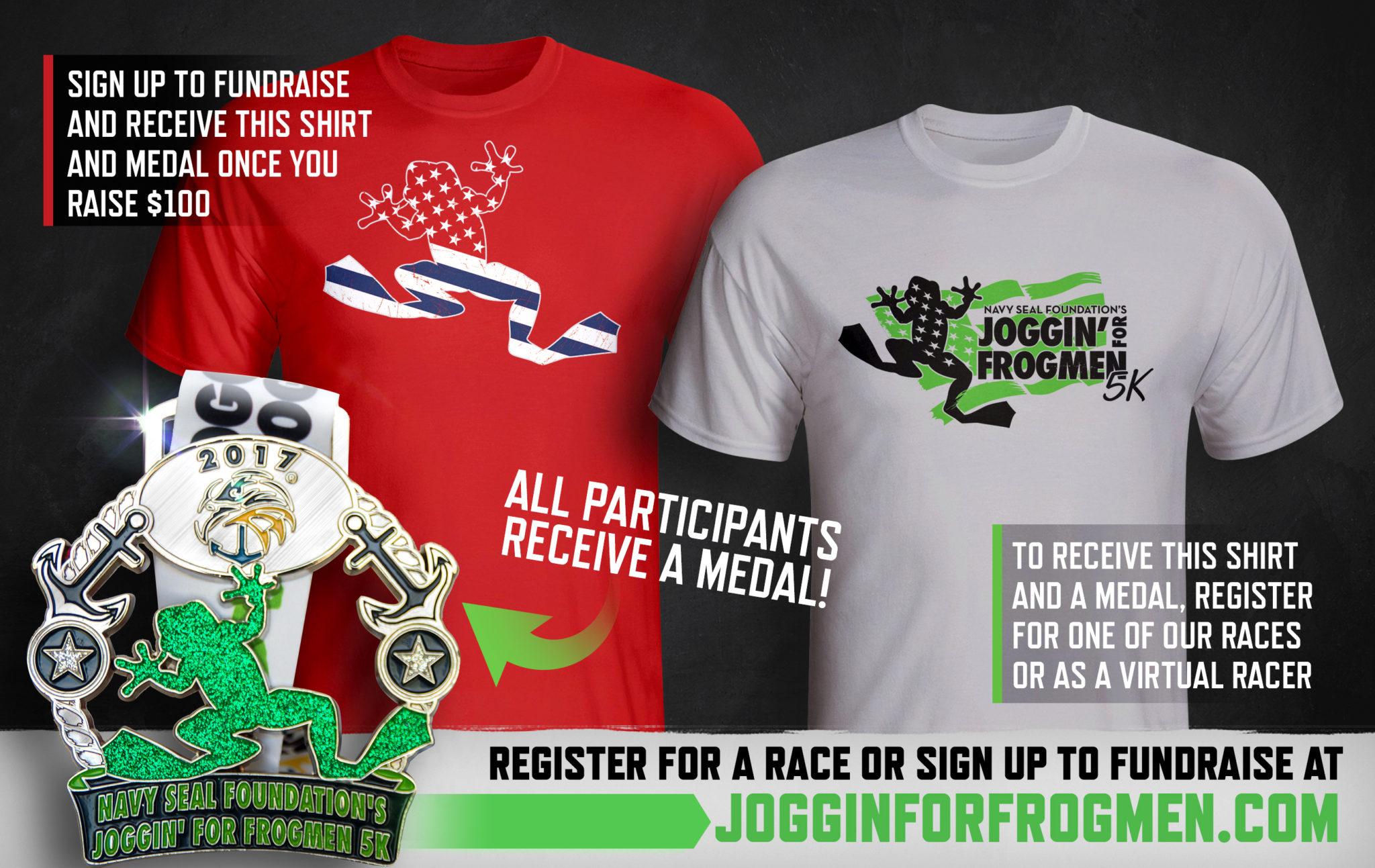 Design your own t shirt louisville ky - 2017 Joggin For Frogmen Gear